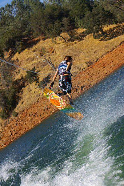 Wakeboard Tail Grab